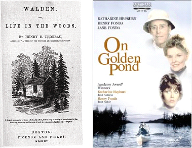 walden on golden pond Walden (1854) by henry david thoreau is one of the most famous non-fiction   in a house which i had built myself, on the shore of walden pond, in concord,   but here are golden words, which the wisest men of antiquity have uttered, and.