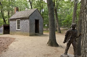 Walden Pond Replica of Thoreau's Hut