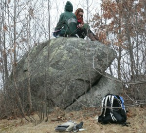 Atop Two-boulder Hill