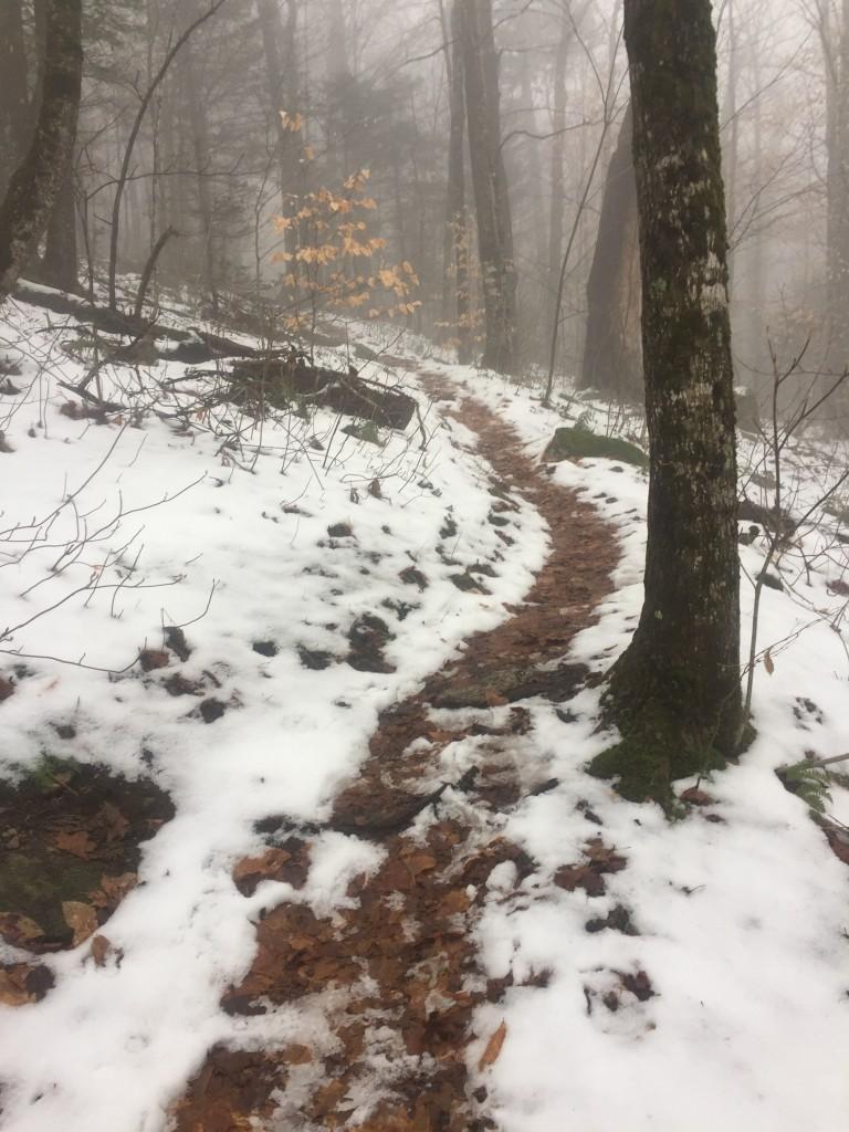 Sidehill up.