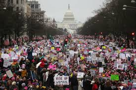 Women march in front of the Capital Building Credit: New York Magazine