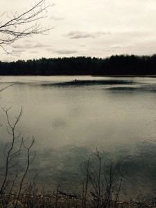 Lone fisher on the water