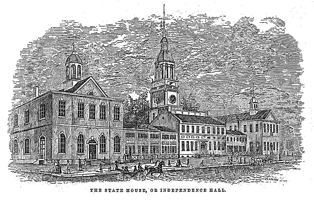 Independence Hall in 1852