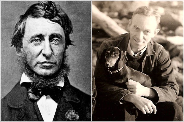 Thoreau and White Credit: Wikimedia