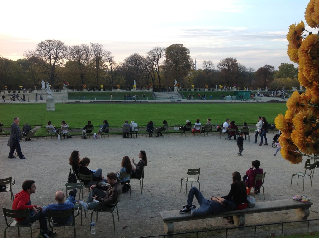 Parisians greet November in the Luxembourg Gardens, 11/1/14