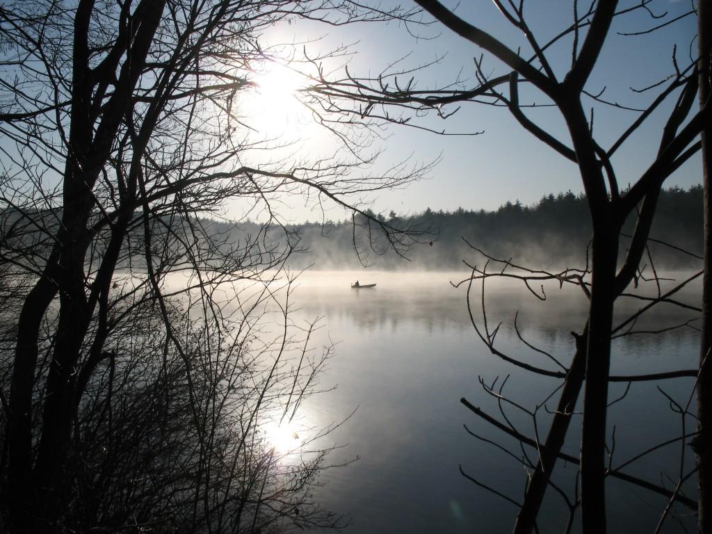 November sunrise at Walden Pond