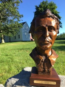 An anonymous donor presented Thoreau Farm with this limited edition bust of Thoreau.