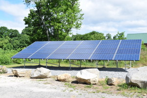 Solect Energy donated this 7KW solar array to Thoreau Farm. Solar power runs the birth house exclusively in the summer months and has cut the winter heating bill in half.